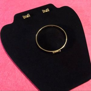 Kate Spade Classic Bow Bracelet and Earring Set
